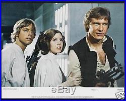STAR WARS CineMasterpieces VINTAGE ORIGINAL LOBBY CARD SET 1977 MOVIE POSTERS