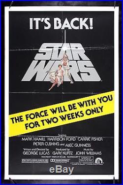STAR WARS CineMasterpieces VINTAGE ORIGINAL MOVIE POSTER 1981R