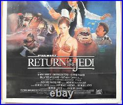 STAR WARS Return of the Jedi 1983 Original Movie Poster Style B 27X41 Vintage