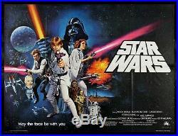 STAR WARS UK BRITISH QUAD CineMasterpieces VINTAGE ORIGINAL MOVIE POSTER 1977
