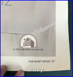 STAR WARS VINTAGE 1977 Style D Folded Studio Issue One Sheet 27X41 Drew Struzan