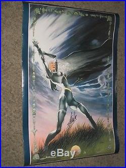 STORM Vintage Poster SIGNED by STAN LEE Marvel/X-Men/Movie CHARLES VESS ART