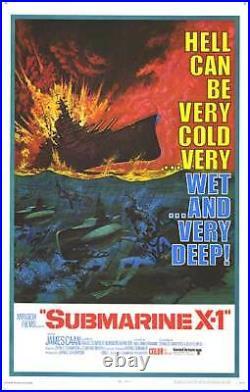 SUBMARINE X-1 original WW2 one sheet 27x41 movie poster DEEP SEA SCUBA DIVING