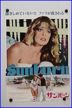 SUNBURN Farrah Fawcett Original Vintage Japanese Movie Poster 1979 Rolled