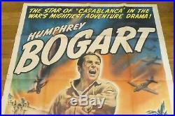 Sahara Humphrey Bogart Original 1943 Vintage Poster Sheet 41 x 54