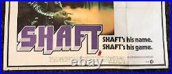 Shaft Original Vintage Theatrical Folded British Quad Movie Poster