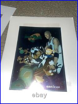 Space jam michael jordan Looney Toones Film Poster Rare Vintage Upper Deck 1996