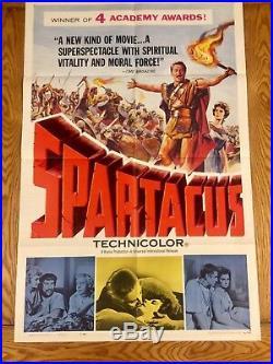 Spartacus Original Movie Poster Vintage Academy Award Issue 1960 Kubrick Douglas