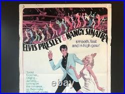 Speedway (Elvis/Sinatra) Original/Vintage Movie Poster USA (1968) 27 x 41 VG