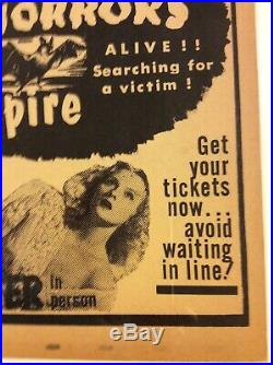 Spook Show Original Vintage Poster 17 x 28 Dr Clayton DONT BE A SISSY COME DOWN