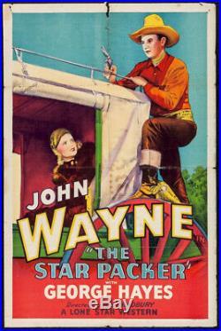 Star Packer Original Vintage Western Movie Poster John Wayne