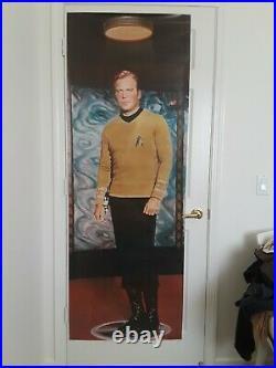 Star Trek TOS, Vintage 1976 6' Kirk & Spock Posters, Door Size