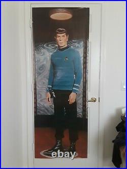 Star Trek, Vintage 1976 6' Spock Poster, Door Size. Free Shipping