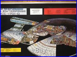Star Trek Vintage Poster USS Enterprise Next Generation Television Movie Pin-up