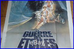 Star Wars French 1p'77 George Lucas Original Vintage Theatrical Folded Grande