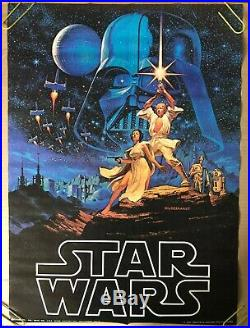 Star Wars Original Vintage Movie Poster Hildebrandt 1977 Factors Fox Film Pin Up Vintage Movie Posters