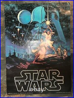 Star Wars Poster Vintage Hildebrandt 1977 Movie Poster 28 X 20 Original
