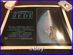 Star Wars Vintage EMPIRE STRIKES BACK & Return of the Jedi Half Sheet Lot 22x28