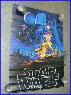 Star wars Hildebrandt Poster Vintage 1977 movie C1883