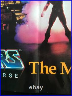 Super RARE Masters of the Universe teaser poster 1987 film VINTAGE He-Man 24x36