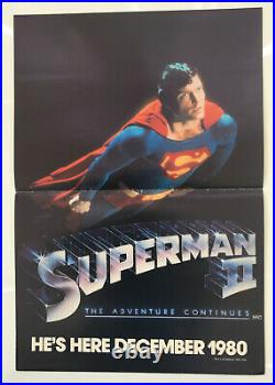 Superman II Original Vintage Movie Poster 1980