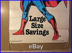 Superman Vintage Poster Pin-up Cartoon Superhero TV Movie Memorabilia DC Comics