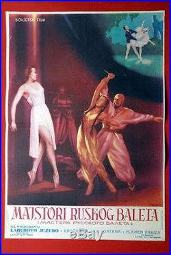 Swan Lake Russian Ballet Soviet 1953 Vintage Rare Exyu Movie Poster