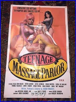 Teenage Massage Parlor Adult Movie Poster Hilda Von Krause Original 1976 Vintage
