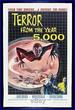 TERROR FROM THE YEAR 5000 CineMasterpieces VINTAGE ORIGINAL MOVIE POSTER 1958