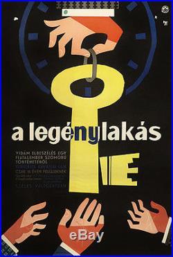 THE APARTMENT BILLY WILDER Original Hungarian Vintage Movie Poster 1961