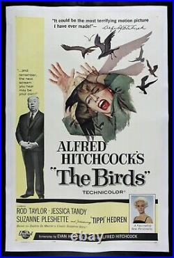 THE BIRDS CineMasterpieces VINTAGE ORIGINAL HITCHCOCK HORROR MOVIE POSTER 1963