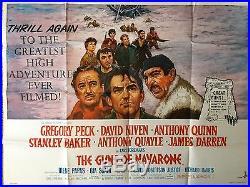 THE GUNS OF NAVARONE (1961) Original Vintage Film Poster UK Quad