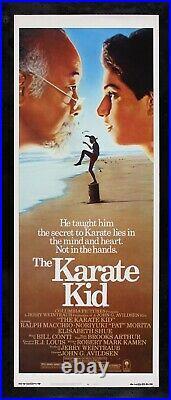 THE KARATE KID CineMasterpieces ORIGINAL RARE INSERT VINTAGE MOVIE POSTER 1984
