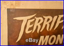 THE MOLE PEOPLE Vintage Original 1956 14 X 36 theatrical insert poster