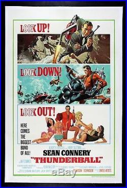 THUNDERBALL CineMasterpieces 1965 JAMES BOND 007 ORIGINAL VINTAGE MOVIE POSTER