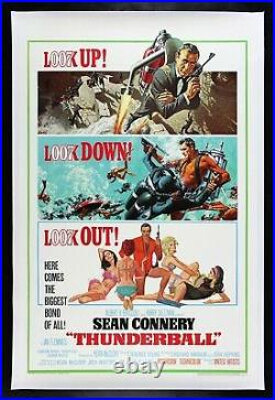 THUNDERBALL CineMasterpieces ORIGINAL VINTAGE MOVIE POSTER JAMES BOND 007 1965