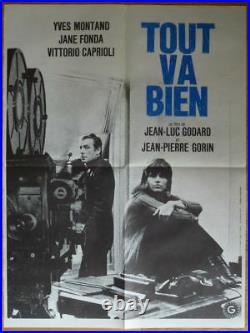 TOUT VA BIEN Godard Montand 1972 Affiche Originale 60x80 Vintage Movie Poster