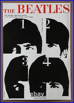 The Beatles Original A Hard Days Night Rare Vintage Swierzy 1964 Movie Poster