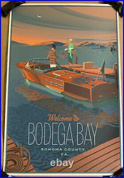 The Birds Movie Poster Bodega Bay Sonoma County Art Print Laurent Durieux Mondo