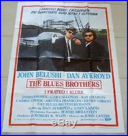 The Blues Brothers Movie Promo Poster Huge Mega Rare Vintage John Belushi Italy