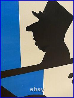 The Day Of The Jackal Original Vintage LINEN BACKED Polish (1975) Film Poster