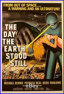 The Day the Earth Stood Still Vintage Movie Poster Lithograph Michael Rennie S2