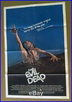 The Evil Dead vintage original 1-Sheet Theatrical Poster 1981 Folded VG Cond