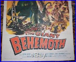 The Giant Behemoth Original One Sheet Vintage Movie Poster 1959 Sci-Fi horror