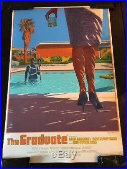 The Graduate Movie Poster Art Print Laurent Durieux Mondo Summer Pool Vtg Film