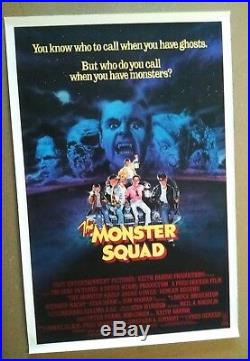 The Monster Squad vintage original 1-Sheet Theatrical Poster 1987 Rolled VG+