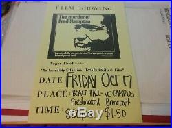 The Murder Of Fred Hampton Bbp Film Poster 1971 Uc Berk Nmint Rare Clean Vtg Htf