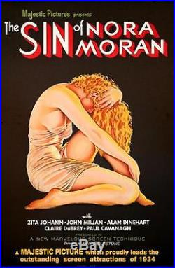 The Sin of Nora Moran Vintage Movie Poster Lithograph Hand Pulled S2 Art Ltd Ed