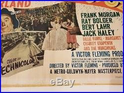 The Wizard of Oz 1/2SH 1939 R-1949 MGM rolled vintage movie poster 22x28 RARE