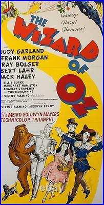The Wizard of Oz 3 Sheet Vintage Movie Poster Lithograph Judy Garland S2 Art